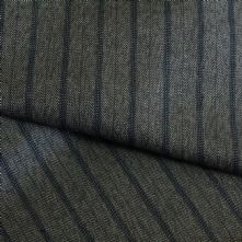 Mocca with Navy Pin Stripe Wool Suiting Fabric 150cm Wide